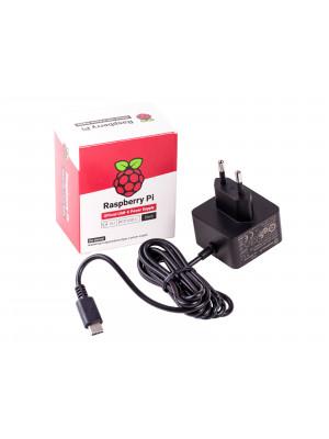 Power Supply 5V 3A - Raspberry Pi 4 Official (Black)
